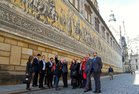 Visit of the old city of Dresden - the Duke's Procession impresses the participants