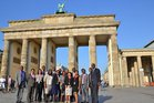 Participants in front of the Brandenburg Gate