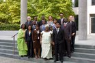 Group Photo of the First French Language Africa Course